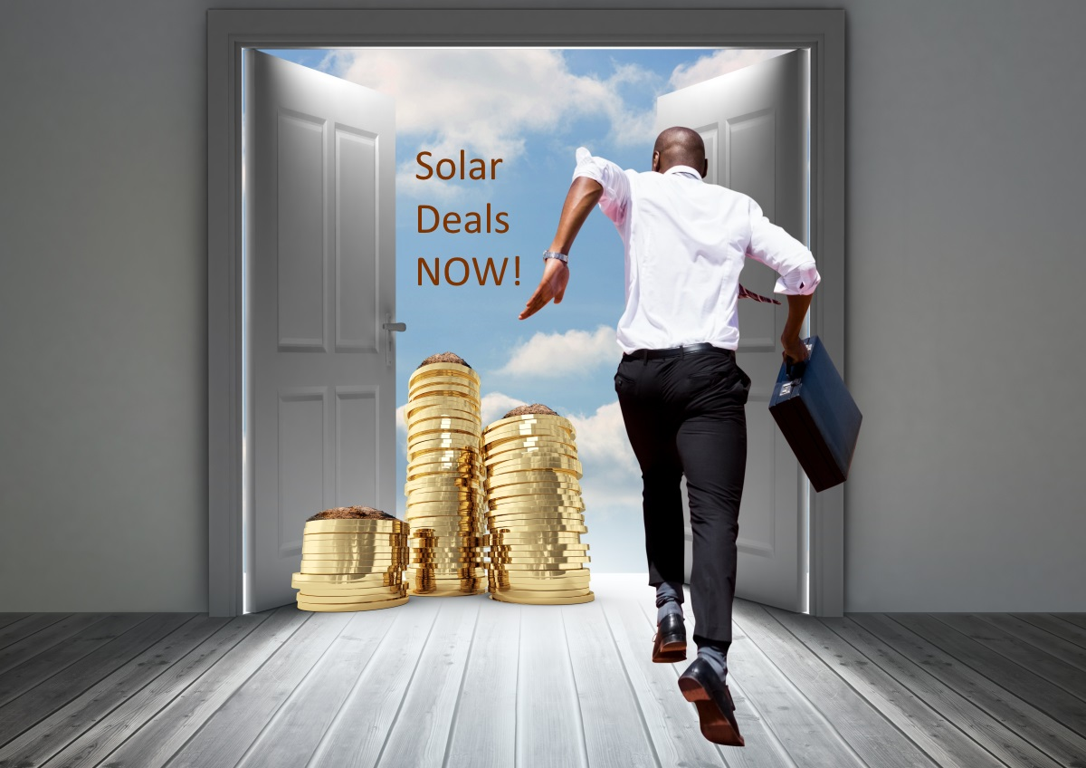 Emerging Markets - Man running to Solar Deals