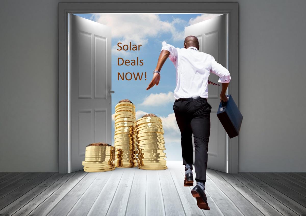 Emerging Markets - Man running to Solar Deals