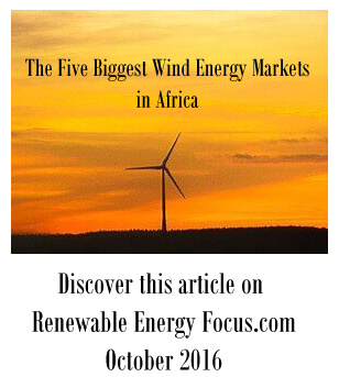 the Five biggest wind energy markets africa