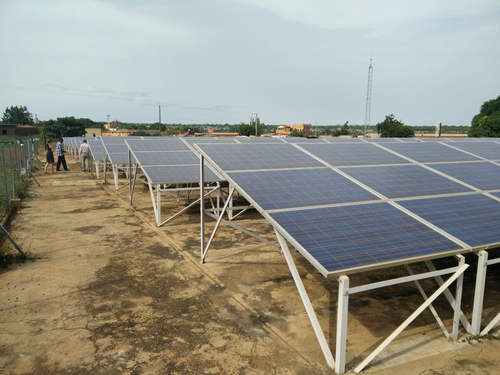 Operation ground-mount solar plant