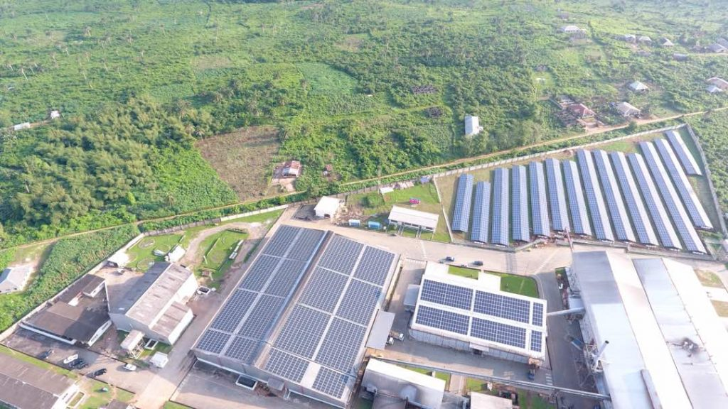 Solar Installation at Industrial Site
