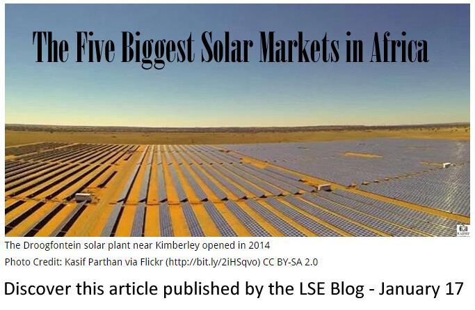 Article LSE blog - 5 biggest solar markets in Africa