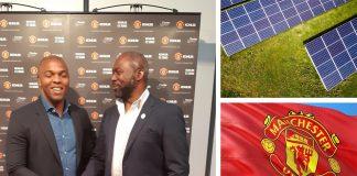 Scoring BIG! Ex-Man U Star Quinton Fortune advocates for more Solar in Africa