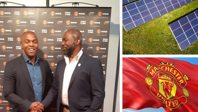 Scoring BIG! Ex-Man U Star Quinton Fortune advocates for more Solar in Africa