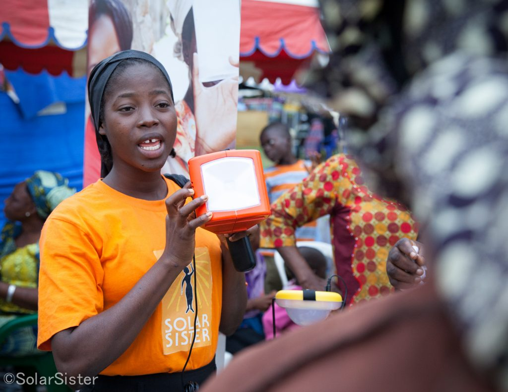 Solar Sister pic 1024x791 - TEDx speaker and Solar Sister manager, Olasimbo tells her wins and challenges