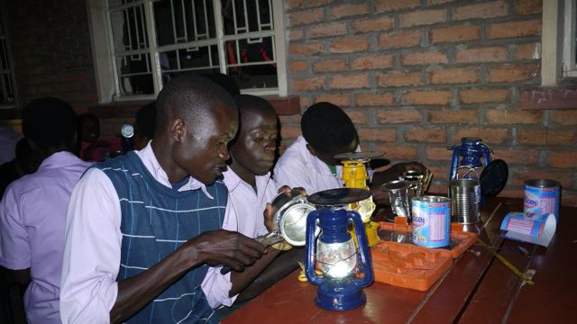 Students converting lamps - Lessons from Malawi: Solar Energy Needs Local Leaders