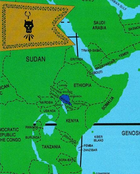 Figure 2 - Wakanda Map in Africa