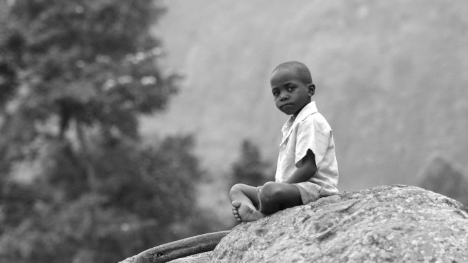 African Boy seizing the moment
