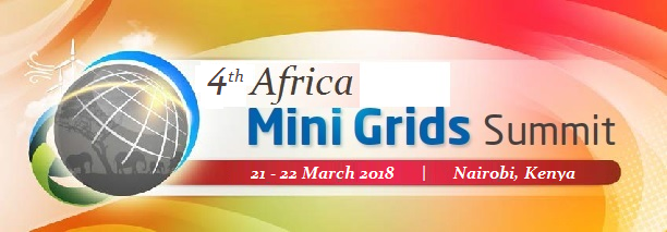 BOOK YOUR PLACES FOR THE 4th AFRICA MINI GRIDS SUMMIT 2018 - MARCH 2018 - NAIROBI